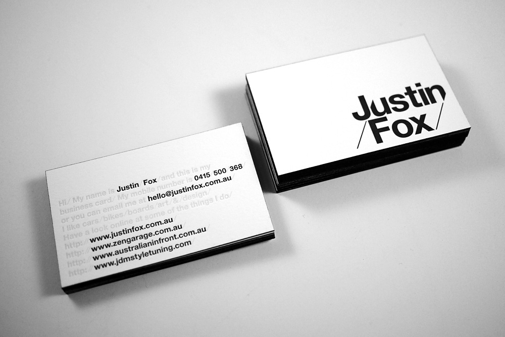 Business Cards – The Distillery | Justin Fox