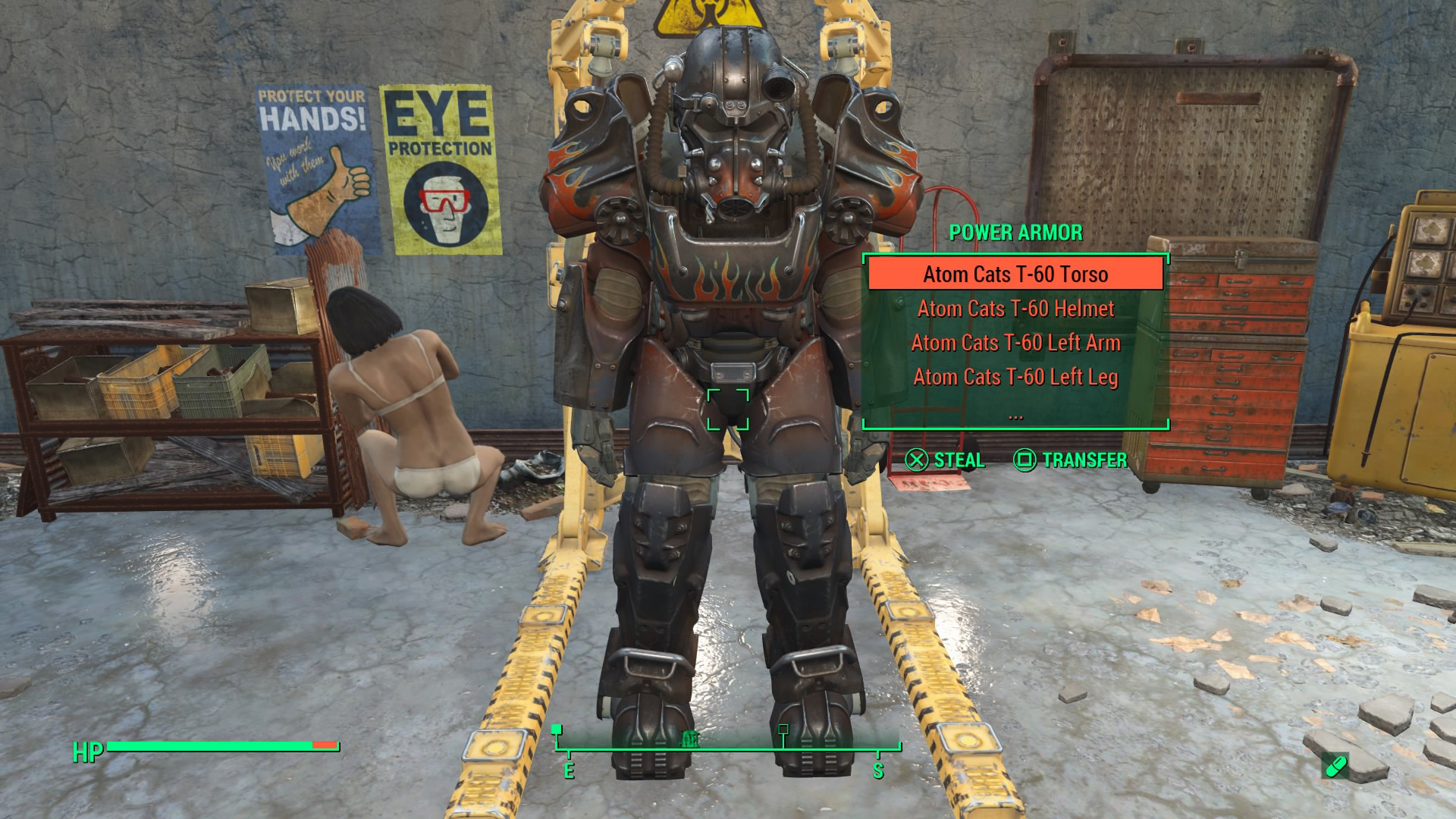 how to get atom cats power armor without stealing