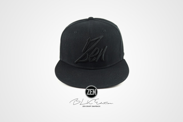 zen_graff_snapback_BLK_Edition