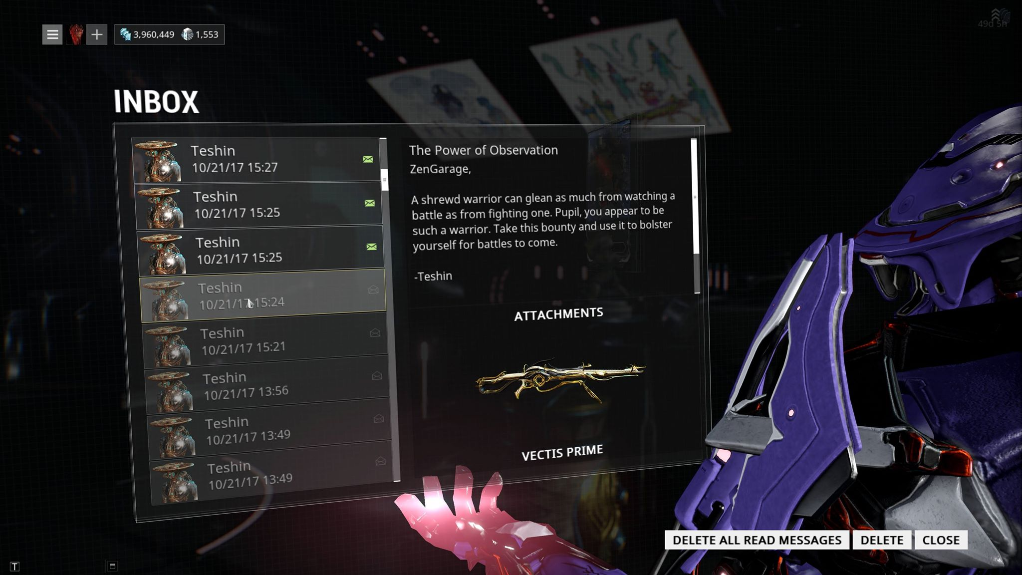 I got the VECTIS PRIME from a Twitch Drop! - Players helping